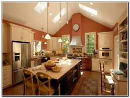 kitchen lighting ideas sloped ceiling
