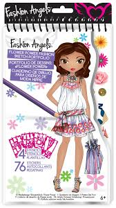 fashion angels flower power sketch portfolio