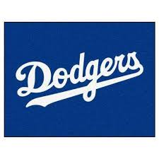 mlb los angeles dodgers white 3 ft x 4 ft all star area rug