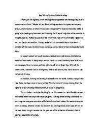 essay on texting and driving co essay