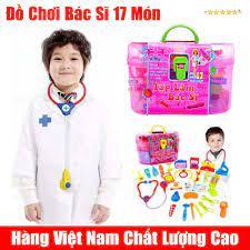 Bộ đồ chơi 17 món tập làm bác sĩ cho bé hàng Việt Nam - Fourtech
