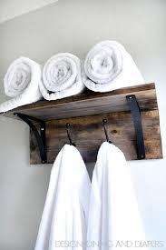 Rustic DIY Towel Organizer Bloggers' Best DIY Ideas Pinterest Unique Bathroom Towel Dispenser Concept