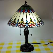 masterly cm tiffany stained glass table lamp european rural garden table lampliving room bedroom bedside lamp