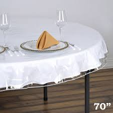 round vinyl tablecloth protector cover enlarge image 70