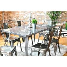 metal dining tables and chairs metal dining chairs industrial small images of industrial dining metal dining