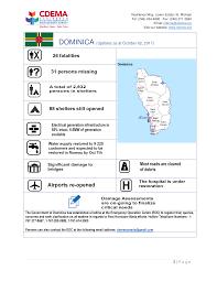 Situation Report HURRICANE MARIA SITUATION REPORT 24 October 24 24 Caribbean 14