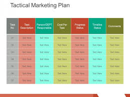 Marketing Plan Ppt Example Tactical Marketing Plan Ppt Powerpoint Presentation Infographic