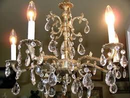 faux antique brass chandelier