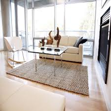 rectangle wool blend braided rug for contemporary living room decor image 10 of 15