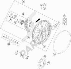 Front wheel ktm freeride 350 2016 eu