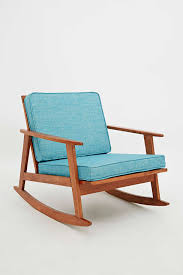 mid century rocking chair in turquoise urban outers
