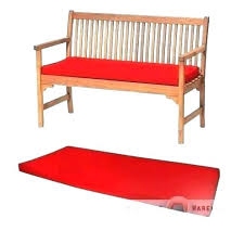 red painted garden bench benches cushions outdoor cushion