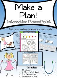 Setting and Reaching Goals Interactive PowerPoint   Happy kids ...