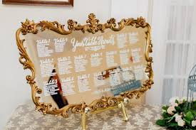 Xxl Curvy French Mirror Seating Chart Wedding 3 In