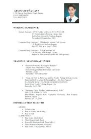 Sample Of Resume For Abroad Sample Application Resume Application Resume Sample Application