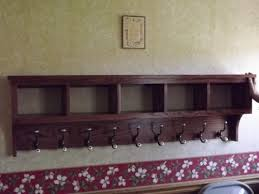 Country Coat Rack 100 Cub Coat Rack Storage Display Wall Shelf 100 Oak Storage Unit In 82