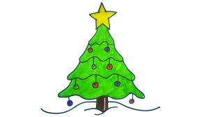 how to draw a christmas tree easy and cute art on paper for kids christmas images c90