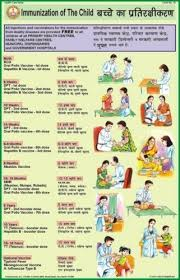 Immunization Of The Child For Health Hygiene Chart