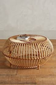 large round rattan coffee table wicker wood furniture club