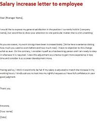 pay raise letter samples how write a pay raise letter increase best business template with