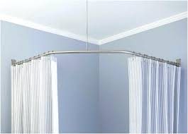 bathroom curtain rods bathroom curtain rods new l shaped shower curtain rod tubs 6 curved bathroom