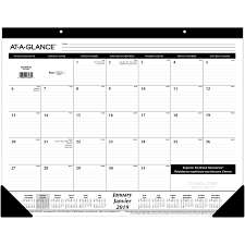 At A Glance Monthly Calendar Desk Pad Aagsk24fb 00