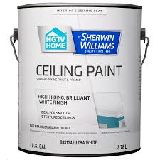 home by sherwin williams ceiling white flat latex interior paint and primer in one