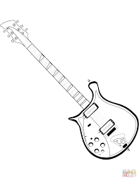 electric guitar coloring page free printable pages and
