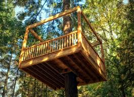 Simple Backyard Treehouse Designs For Kids  Simple Backyard Kids Treehouse Design