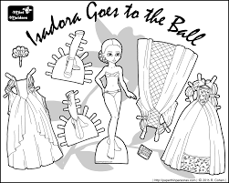 Small Picture Isadora Goes to the Ball A Fantasy Princess Printable Paper Doll