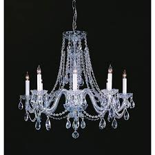 traditional crystal swarovski strass crystal polished chrome eight light chandelier