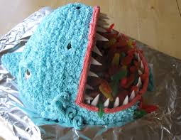 Shark Cake Creates Biting Excitement Kids Birthday Cakes