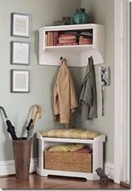 Corner Cubby Bench Coat Rack Corner Cubby Bench Coat Rack need this in darker wood for my 84