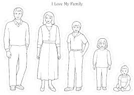 coloring pages family coloring pages sheets of families memb