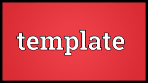 What Is Tamplate Template Meaning