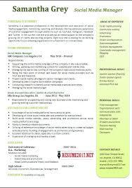 Sample Social Media Resume Social Media Manager Resume Examples 100 29