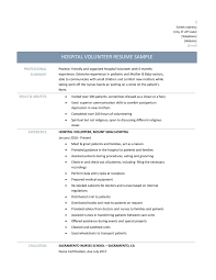 Volunteer Resume Example Examples Of Resumes