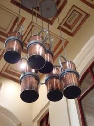 Custom Copper Pendents In The Entry Of A School In South Louisiana.