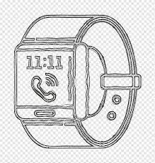 Saat simgesi akıllı simge teknoloji simgesi, zaman simgesi, izle simgesi,  hat sanatı, banyo aksesuarı, çizim, banyo aksesuarları, saat simgesi, çizim  png