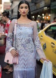 Erum Khan Dress Designer Erum Khan Embroidered Organza Unstitched 3 Piece Suit Ek19c Flossy Malive Luxury Collection