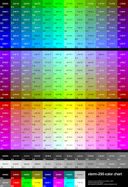 Ansi Color Chart Standards File Xterm 256color Chart Svg Wikimedia Commons