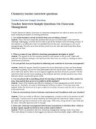 Chemistry Teacher Interview Questions | Lesson Plan | Classroom ...
