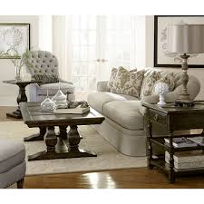 Tufted Living Room Set Furniture Collection One Upholstered Oxford Tufted Skirted Sofa