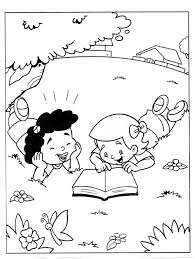 Coloring Pages Child Reading Bible