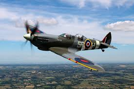 spitfire plane. flight in a wwii spitfire plane