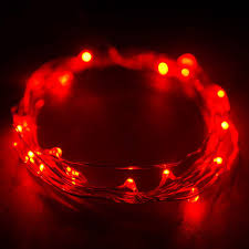Battery Operated Red Led Lights 7 5 Ft Red Starry String Lights Battery Operated With 20