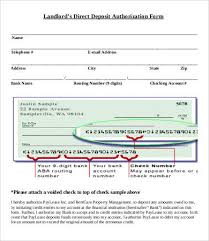 How To Fill Out Direct Deposit Form Direct Deposit Letter Sample