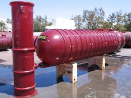 600 Gallon Xerxes Underground Fiberglass Fire Protection