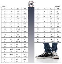 Chuck Taylor All Star Size Chart Converse Shoe Size Chart Www Super8filmfestival It