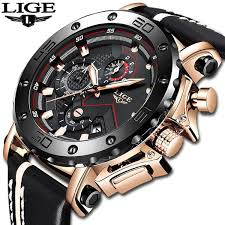 <b>2019 LIGE</b> Fashion <b>Mens Watches</b> Luxury Big Dial Military Quartz ...